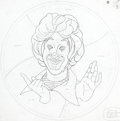 Original Comic Art:Miscellaneous, Ronald McDonald and Gobblins Simulated Leaded Glass Room DividerDesign Drawings Group of 3 (McDonald's/Setmakers, c. 1970s)....(Total: 3 Items)