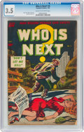 Golden Age (1938-1955):Crime, Who Is Next #5 (Standard, 1953) CGC VG- 3.5 Cream to off-white pages....