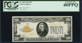 Small Size:Gold Certificates, Fr. 2402 $20 1928 Gold Certificate. PCGS Extremely Fine 40PPQ.. ...