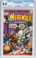Bronze Age (1970-1979):Horror, Werewolf by Night #32 (Marvel, 1975) CGC VF 8.0 Off-white pages....