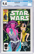 Modern Age (1980-Present):Science Fiction, Star Wars #106 (Marvel, 1986) CGC NM 9.4 White pages....