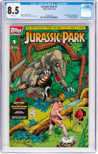 Jurassic Park #1 Collector's Edition (Topps Comics, 1993) CGC VF+ 8.5 White pages