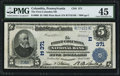 National Bank Notes:Pennsylvania, Columbia, PA - $5 1902 Plain Back Fr. 606 The First-Columbia NB Ch. # (E)371. ...
