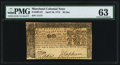 Colonial Notes:Maryland, Maryland April 10, 1774 $2 PMG Choice Uncirculated 63.. ...