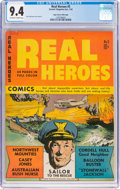 Golden Age (1938-1955):War, Real Heroes Comics #5 Mile High Pedigree (Parents' MagazineInstitute, 1942) CGC NM 9.4 Off-white to white pages....