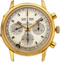 Timepieces:Wristwatch, Wakmann Chronograph, 39mm, Gold Plated, Stainless Steel Back, Ref. 1315 01 74, Circa 1969. ...