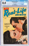 Golden Age (1938-1955):Romance, Real Life Secrets #1 Mile High Pedigree (Ace, 1949) CGC VF 8.0Off-white to white pages....