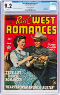 Golden Age (1938-1955):Romance, Real West Romances #2 Mile High Pedigree (Prize, 1949) CGC NM- 9.2Off-white to white pages....