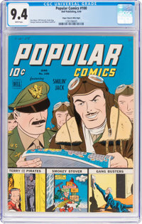Popular Comics #100 Mile High Pedigree (Dell, 1944) CGC NM 9.4 White pages