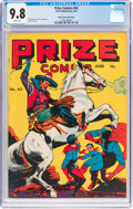 Golden Age (1938-1955):Superhero, Prize Comics #42 Mile High Pedigree (Prize, 1944) CGC NM/MT 9.8 White pages....