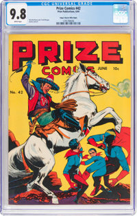 Prize Comics #42 Mile High Pedigree (Prize, 1944) CGC NM/MT 9.8 White pages