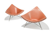 George Nelson (American, 1908-1986) Pair of Coconut Lounge Chairs from Craig Ellwood's Hunt House, desi