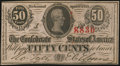 Confederate Notes, T63 50 Cents 1863 2nd Series.. ...