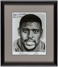 Autographs:Photos, 1987 Reggie White Signed, Framed Photograph....