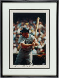 Autographs:Photos, Mickey Mantle Signed, Framed Photograph Print....