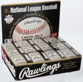 Baseball Collectibles:Balls, Official National League Coleman Baseballs Lot of 12....