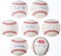 Autographs:Baseballs, Baseball Greats Single Signed Baseball Lot of 7....
