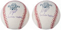 "Autographs:Baseballs, 2008 Matt LaPorta ""Yankee Stadium"" Futures Game Single Signed Baseball Lot of 2...."