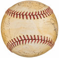 Autographs:Baseballs, 1939 New York Yankees, World Series Champions, Team Signed Baseball (23 Signatures) from the Beans Reardon Collection....