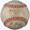 Autographs:Baseballs, 1949 Washington Senators Team Signed Baseball (24 Signatures)....