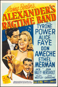 "Movie Posters:Musical, Alexander's Ragtime Band (20th Century Fox, R-1947). One Sheet (27.25"" X 41"") Style B. Musical.. ..."