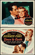 "Movie Posters:Musical, Down to Earth (Columbia, 1947). Title Lobby Card & Lobby Card (11"" X 14""). Musical.. ... (Total: 2 Items)"