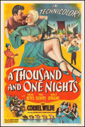"""Movie Posters:Adventure, A Thousand and One Nights (Columbia, 1945). One Sheet (27.25"""" X 41""""). Adventure.. ..."""