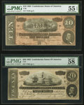Confederate Notes, T67 $20 1864;. T68 $10 1864.. ... (Total: 2 notes)