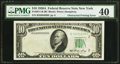 Error Notes:Obstruction Errors, Obstruction Printing Error at Left Fr. 2011-B $10 1950A FederalReserve Note. PMG Extremely Fine 40.. ...