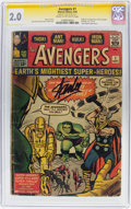 Silver Age (1956-1969):Superhero, The Avengers #1 Signature Series (Marvel, 1963) CGC GD 2.0 Cream tooff-white pages....