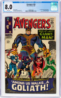 Silver Age (1956-1969):Superhero, The Avengers #28 (Marvel, 1966) CGC VF 8.0 White pages....
