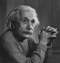 Photographs, Yousuf Karsh (Canadian, 1908-2002). Albert Einstein, 1948. Gelatin silver, printed later. 16-5/8 x 15-7/8 inches (42.2 x...