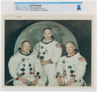 """Apollo 11: Original NASA """"Red Number"""" Crew White Spacesuit Color Photograph Directly From The Armstrong Family..."""