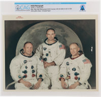 """Apollo 11: Original NASA """"Red Number"""" Crew White Spacesuit Color Photograph with Mismatched Image Number, Dire..."""
