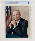 """Explorers:Space Exploration, Neil Armstrong: Original NASA """"Red Number"""" Color Photograph, the Business Suit Pose, Directly From The Armstrong Family Co..."""