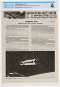 """Explorers:Space Exploration, Gemini 8: NASA Manned Spacecraft Center """"Gemini VIII"""" Fact Sheet, #291-E, Directly From The Armstrong Family Collection™, ..."""