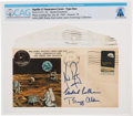 "Explorers:Space Exploration, Apollo 11: Janet Armstrong's Personal Crew-Signed ""Type One"" Insurance Cover Directly From The Armstrong Family Collection..."
