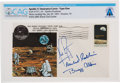 "Explorers:Space Exploration, Apollo 11 Crew-Signed ""Type One"" Insurance Cover Directly From The Armstrong Family Collection™, Certified and Encapsulate..."