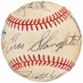 Autographs:Baseballs, 1985 New York Yankees Old-Timers Game Multi-Signed Baseball (8Signatures)....