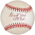"Autographs:Baseballs, President Gerald Ford ""38th Pres."" Single Signed Baseball...."