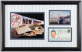 Autographs:Photos, Mickey Mantle Signed, Framed Display....