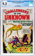 Silver Age (1956-1969):Superhero, Challengers of the Unknown #24 (DC, 1962) CGC NM- 9.2 Off-white towhite pages....