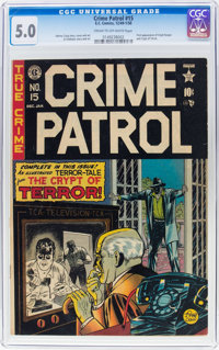 Crime Patrol #15 (EC, 1950) CGC VG/FN 5.0 Cream to off-white pages