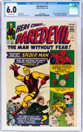 Silver Age (1956-1969):Superhero, Daredevil #1 (Marvel, 1964) CGC FN 6.0 Off-white pages....