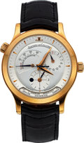 "Timepieces:Wristwatch, Jaeger-LeCoultre, Master Control Geographic ""World Time"", 18K Rose Gold, Ref. 142.2.92, Circa 2000s. ..."