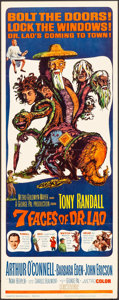 """Movie Posters:Fantasy, The 7 Faces of Dr. Lao (MGM, 1964). Insert (14"""" X 36"""") Joseph SmithArtwork. Fantasy.. ..."""