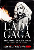 """Movie Posters:Rock and Roll, Lady Gaga: The Monster Ball Tour & Others Lot (Home Box Office, Inc., 2011). Bus Shelters Lot (3) (Approximately 47.75"""" X 68... (Total: 3 Items)"""