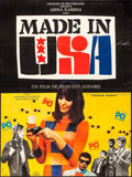 """Movie Posters:Foreign, Made in U.S.A. (Lux Compagnie Cinématographique de France, 1967). French Grande (45.5"""" X 61.25""""). Foreign.. ..."""