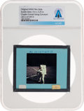 Explorers:Space Exploration, Apollo 12 Original NASA Glass Slide, a Lunar Surface Image of Charles Conrad, Directly From The Armstrong Family Collectio...