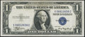 Error Notes:Gutter Folds, Gutter Fold Error Fr. 1608 $1 1935A Silver Certificate. About Uncirculated.. ...